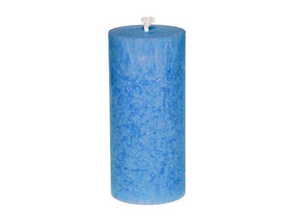 4 Stumpenkerzen aus Stearin 56 x 120 mm, blau