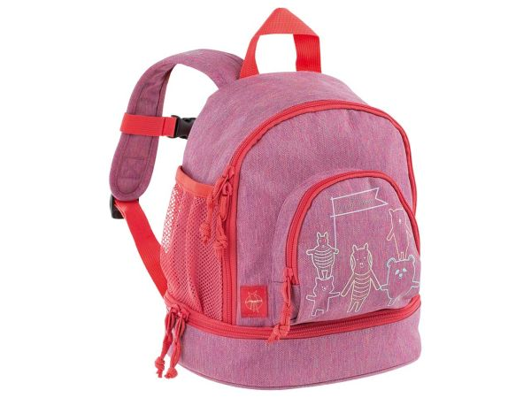 "Lässig Kindergartenrucksack ""About Friends"" Mini Backpack melange pink"