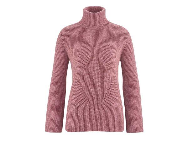 "Bio-Damen-Pullover ""Florine"" dunkelrosa melange, Gr. XL"