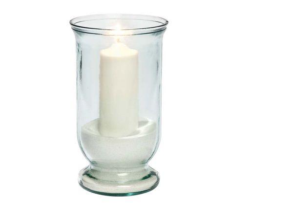 Windlicht aus Recyclingglas 25 cm