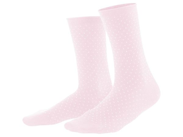 "Living Crafts 2er-Pack Bio-Damen-Socken ""Alexis"" rosé/weiß, Gr. 35-38"