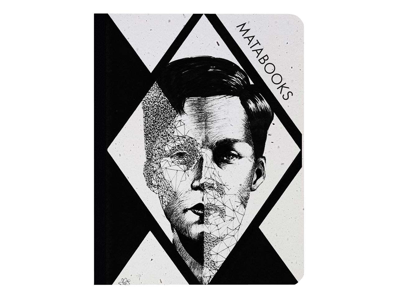 "Matabooks Notizbuch ""Split Mind"" aus Graspapier mit Blumensamen SMB003"