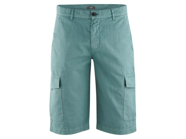 "Living Crafts Bio-Herrenhose ""Cedric"" Bermuda teal, Gr. 30R"