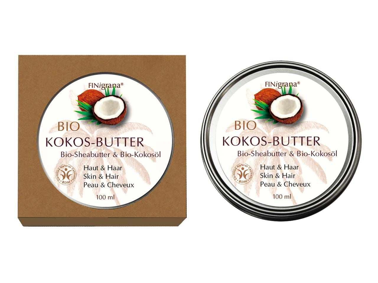 "FINigrana Bio-Kokosbutter ""Kokos-Butter"" soft, 100 ml KO100"