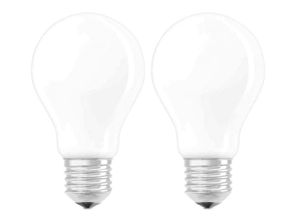 "2er-Pack OSRAM LED-Lampe ""Superstar Filament"" CLA 60, 7 W, E27, 806 lm, matt"