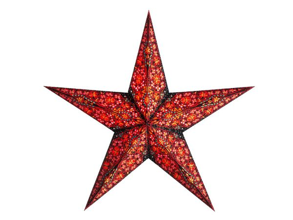 "earth friendly starlightz Papierstern ""Kalea red"" inkl. Verstromung"