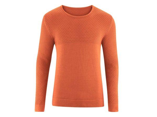 "Living Crafts Bio-Herren-Pullover ""Gabriel"" orangeade, Gr. S"