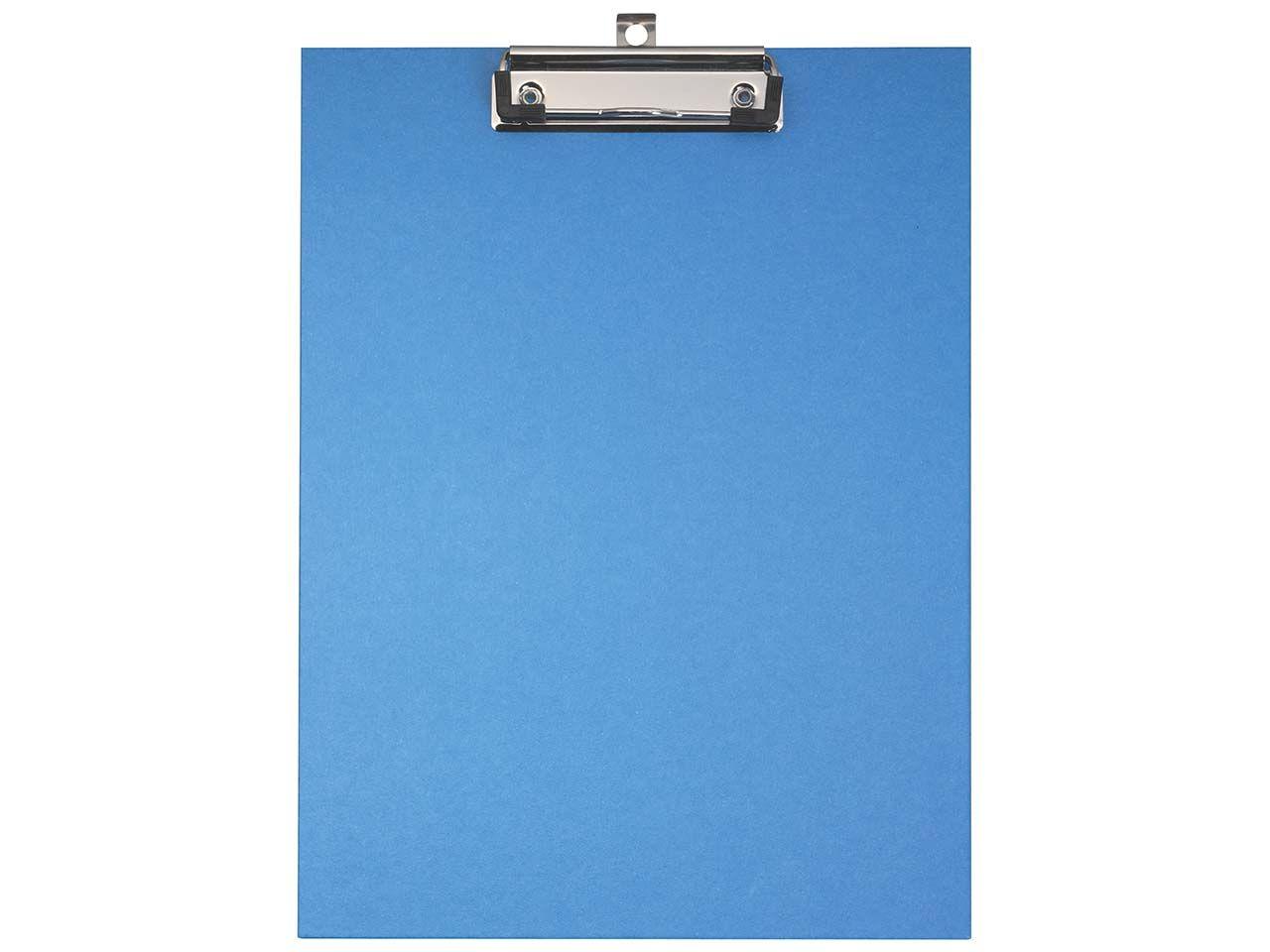 Falken Klemmbrett A4, Hartpappe mit Kraftpapierbezug, blau 11288354