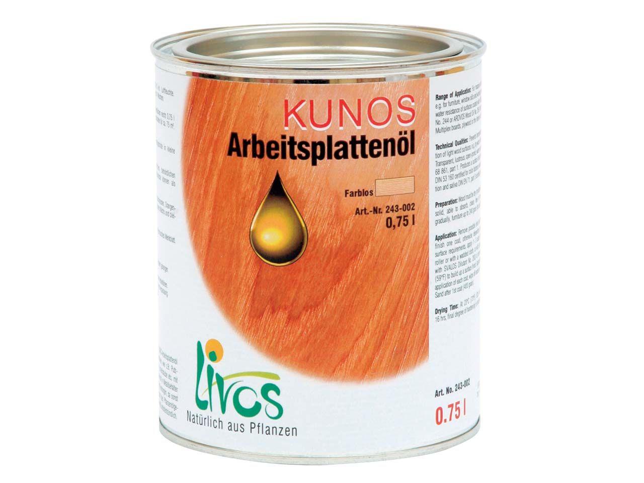 Livos Tisch- und Arbeitsplattenöl 0,75 l