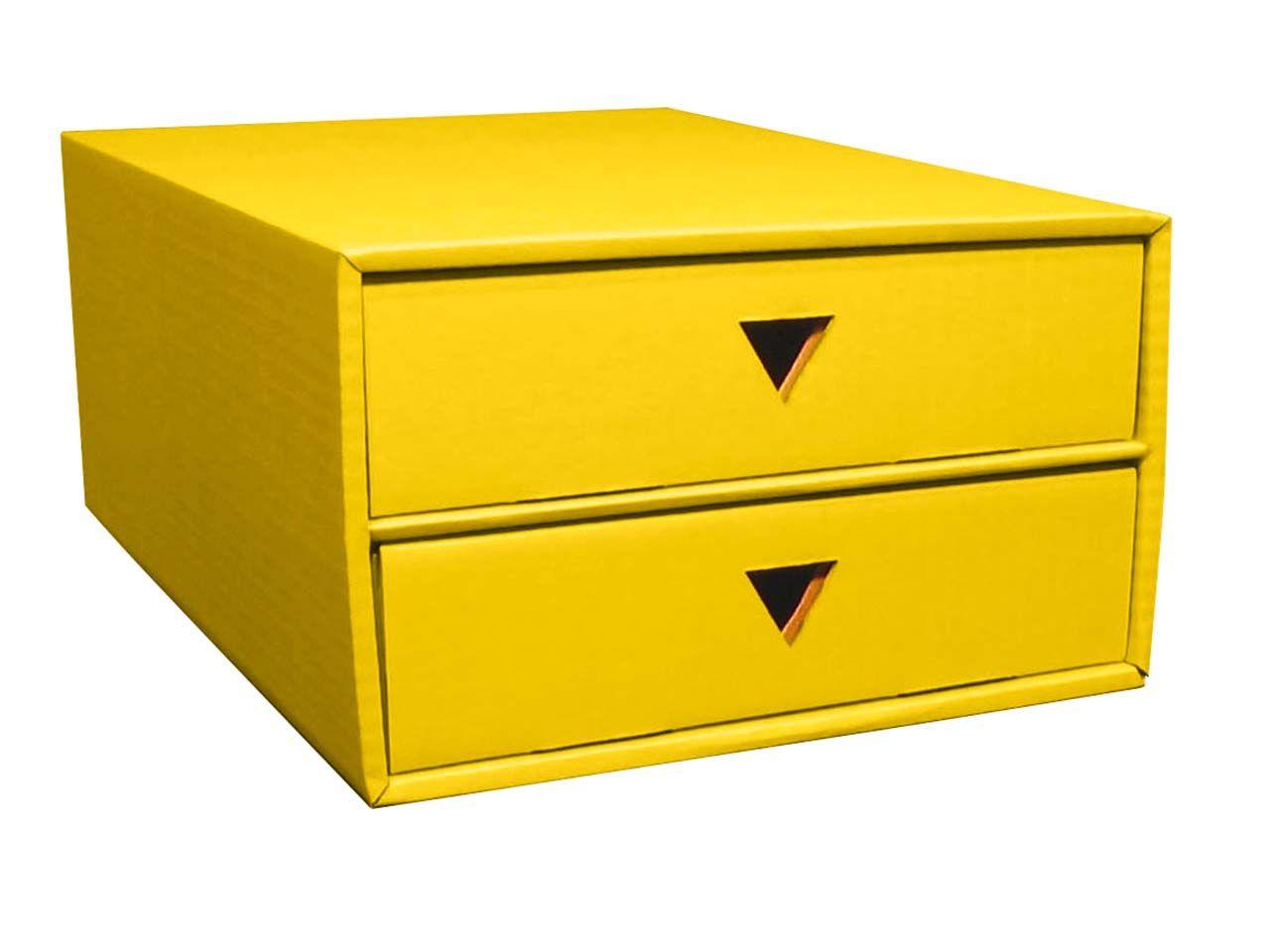 Schubboard A4 mit 2 Schüben gelb 7039gelb