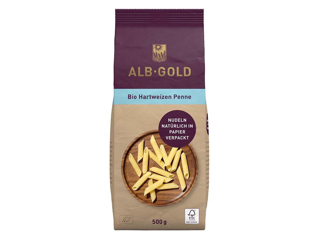 ALB-GOLD Bio-Hartweizen Penne, 500 g 104034311