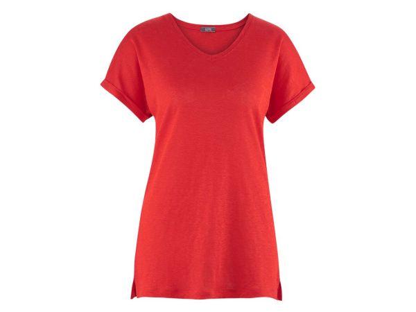 """Living Crafts Bio-Damen-T-Shirt """"Ava"""" aus Leinen grenadine, Gr. M"""
