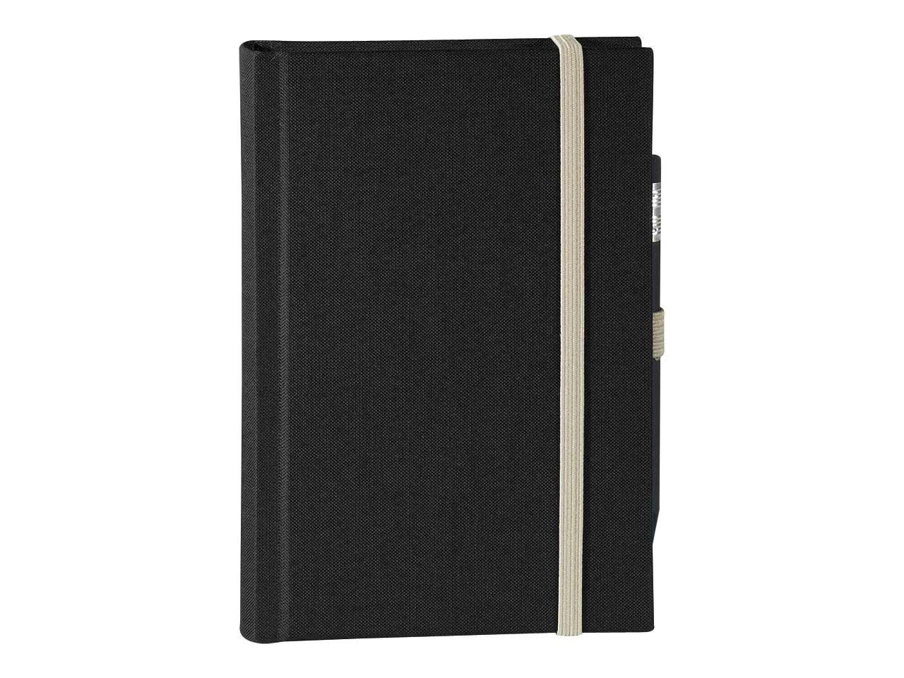 memo Skizzenbuch Leinen A6, (B 92 X H 134 mm) schwarz, 160 Seiten, Zeichenband,1 0164leirec