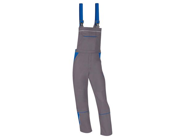 Unisex-Latzhose grau/blau, Gr. 60