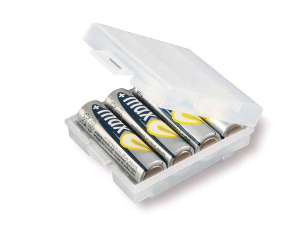 Aufbewahrungsbox für 4 Batterien/Akkus