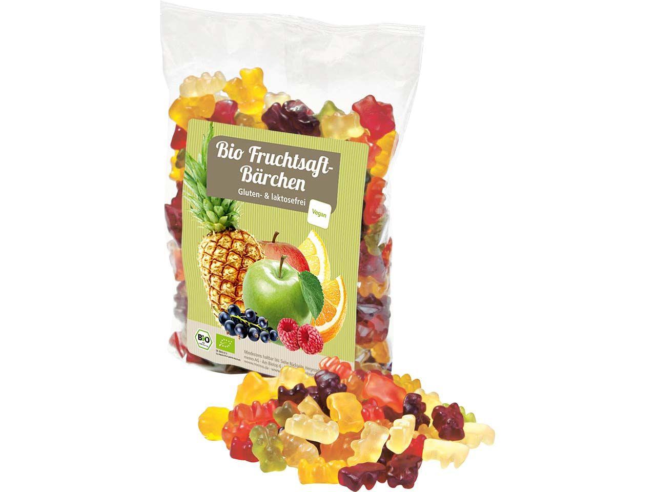 memo Vegane Bio Fruchtsaft Gummibärchen 500g Tüte C09604000