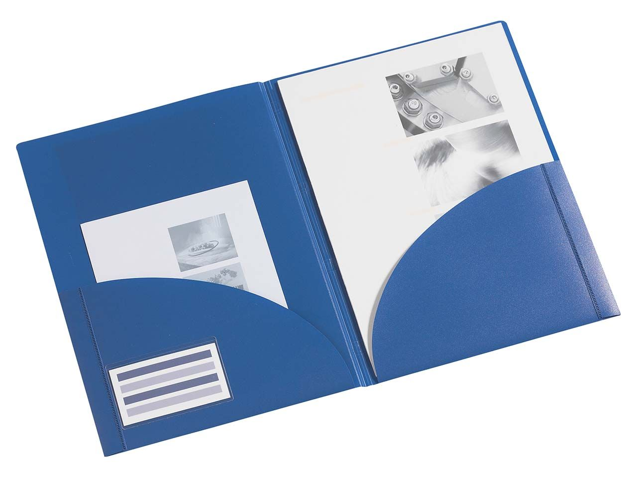 FolderSys Angebotsmappe für A4 blau PP 10908-40