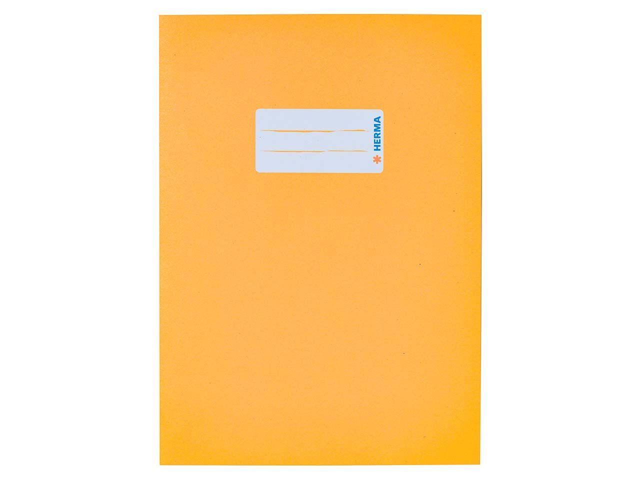 HERMA Heftumschlag RC-Papier A5 gelb 5511