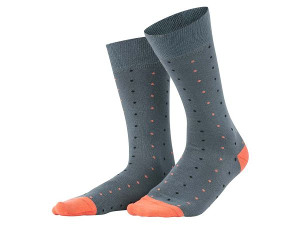 "Living Crafts 2er-Paar Bio-Herren-Socken ""Gero"" asphalt/pepper, Gr. 39-42"