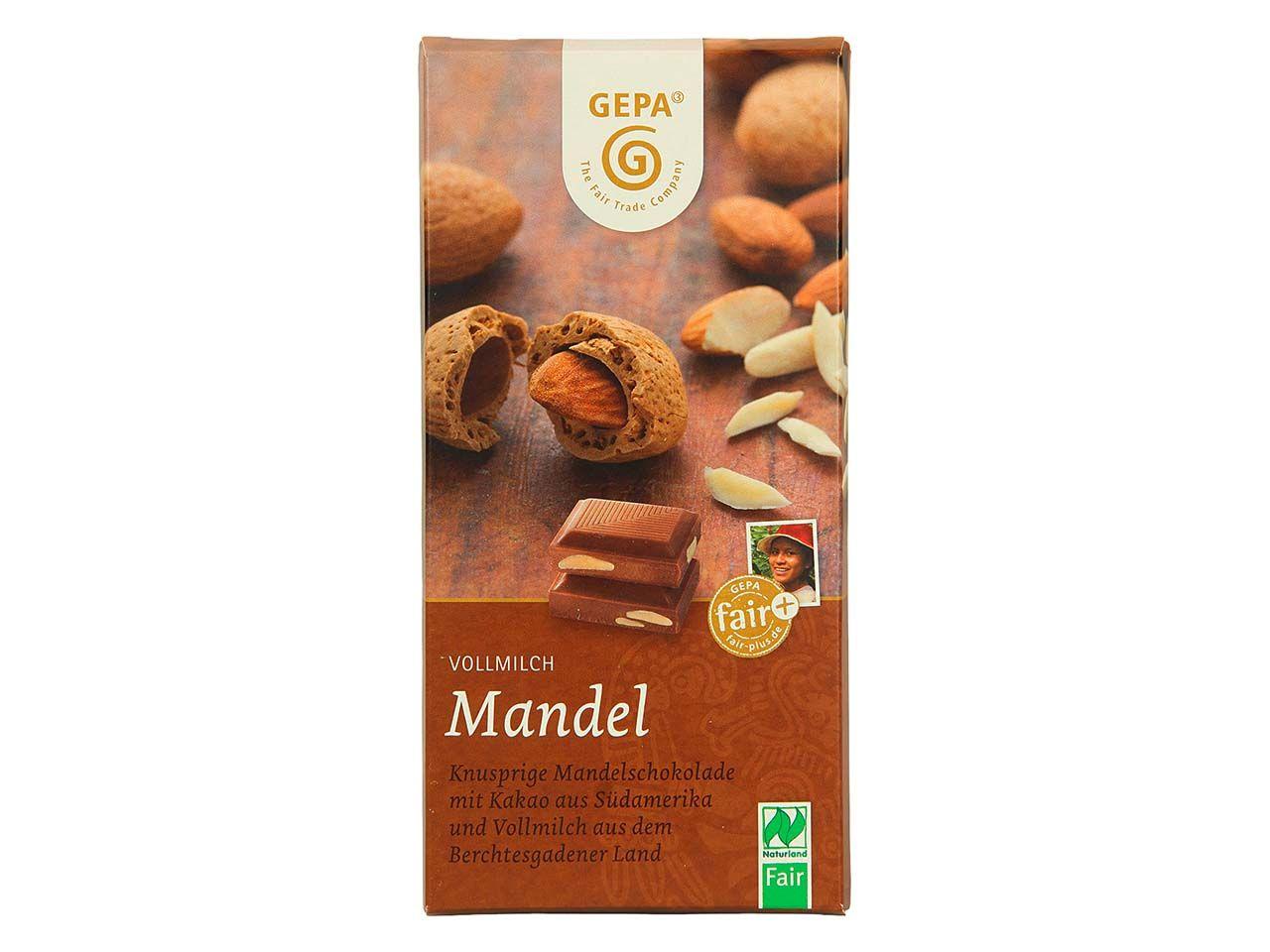 """GEPA Bio-Schokolade """"Vollmilch Mandel"""" 100 g 8951804"""