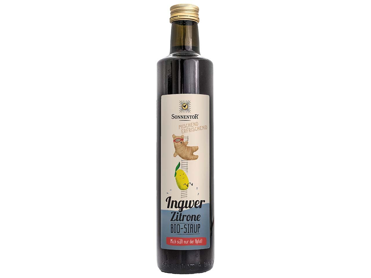 Sonnentor Bio-Ingwer-Zitronen-Sirup, 500 ml 00596