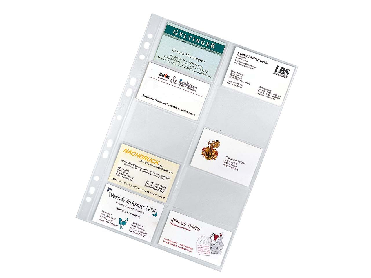 10 Visitenkarten-Hüllen für 10 Visitenkarten 76010-003