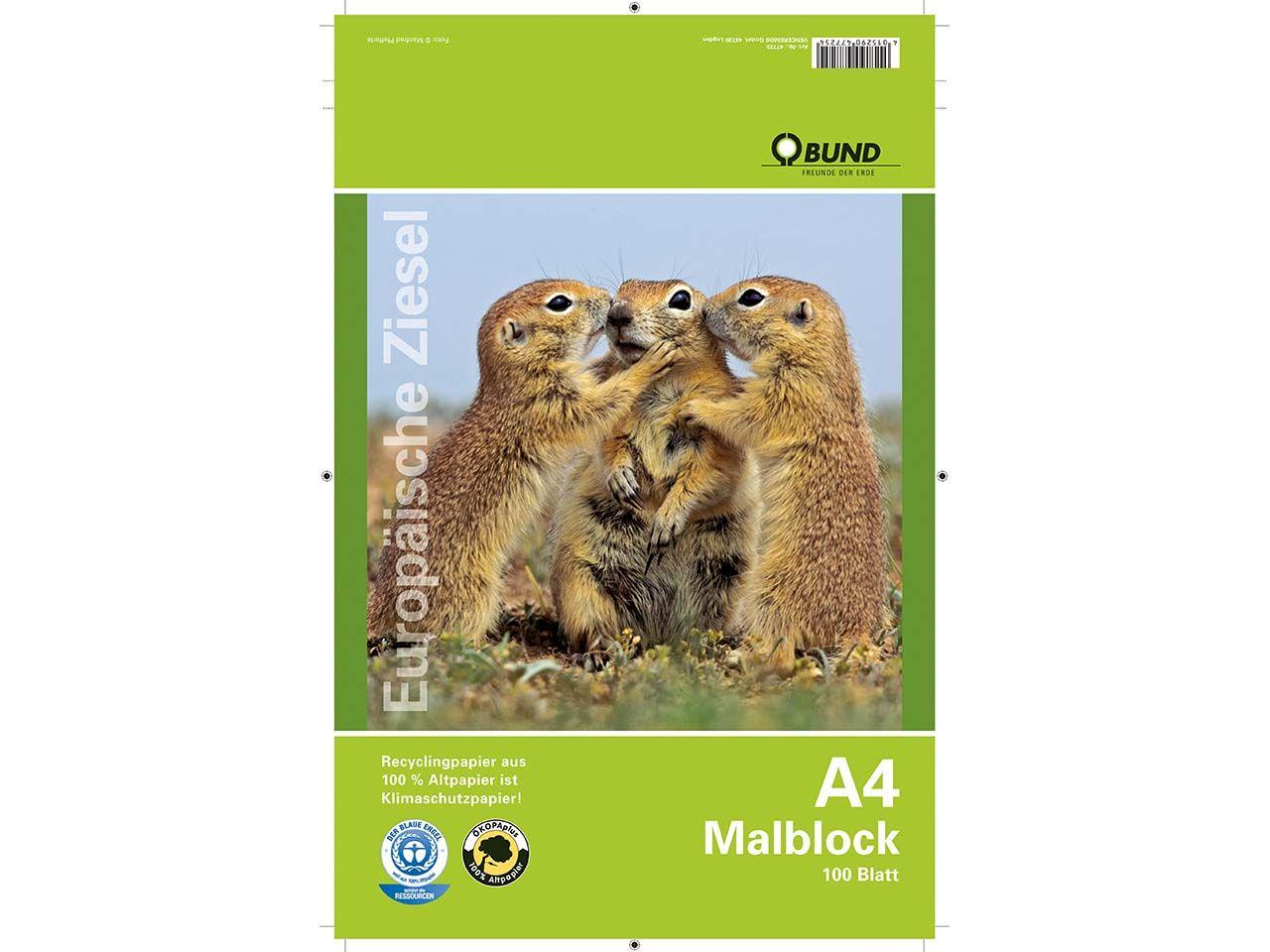 BUND Malblock A4, 100 Blatt 47725