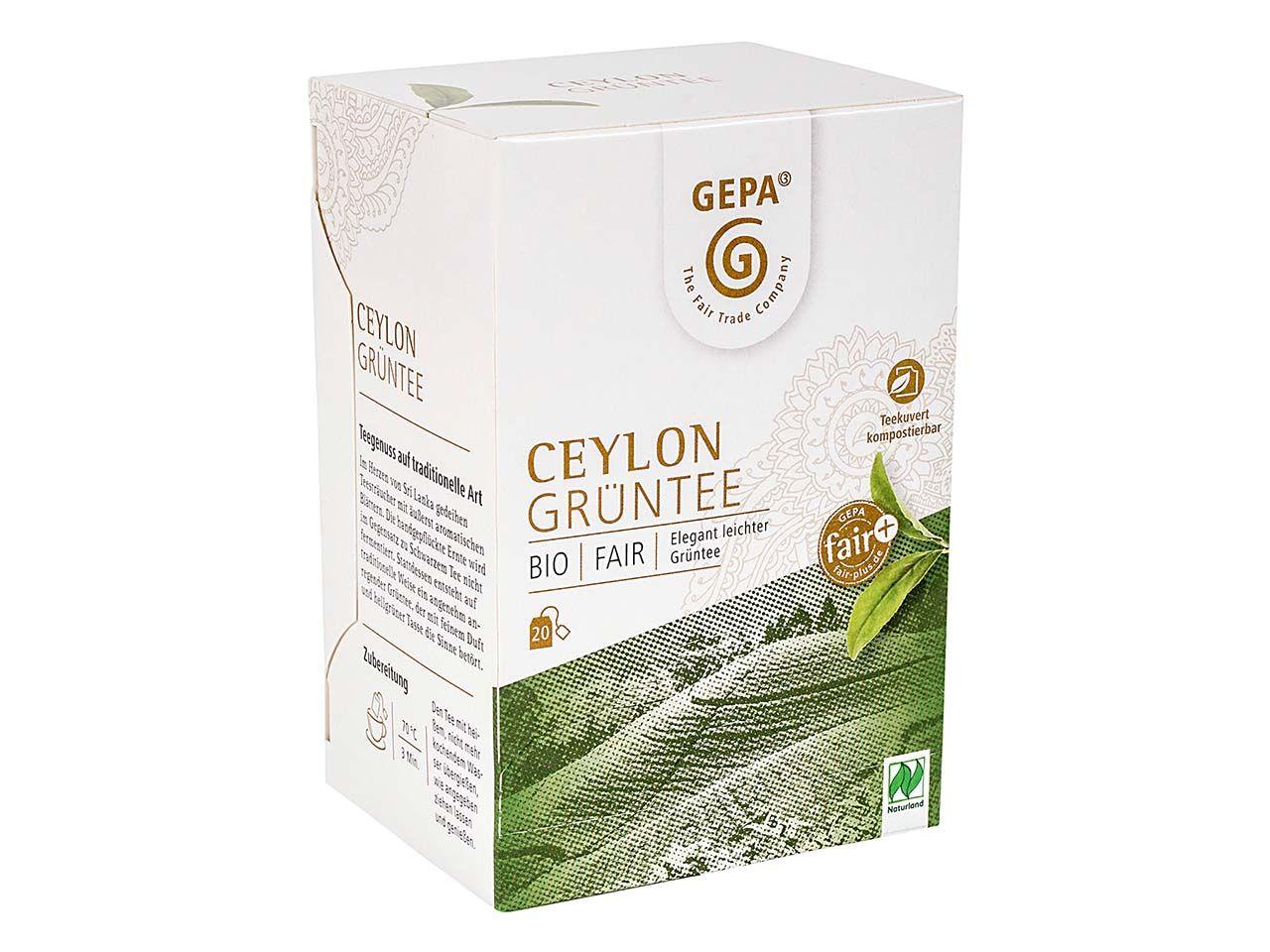 GEPA Grüner Bio-Tee Ceylon , 20 x 2 g 8880947