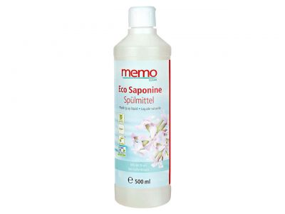 Palmölfrei und vegan - das memo Spülmittel Eco Saponine