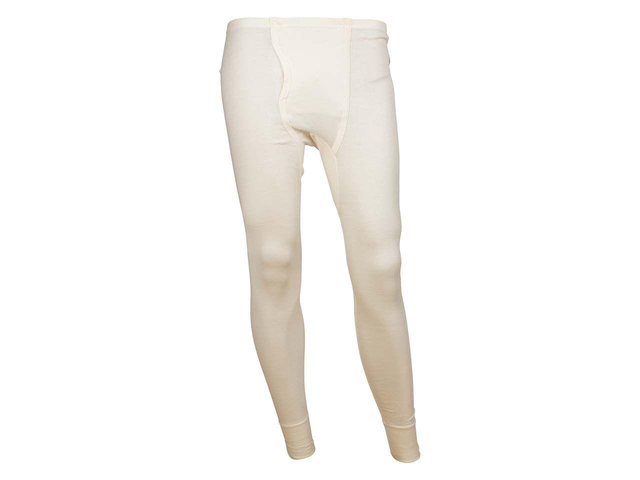Living Crafts Herren-Unterhose lang aus Bio-Baumwolle natur, Gr. L 4365016