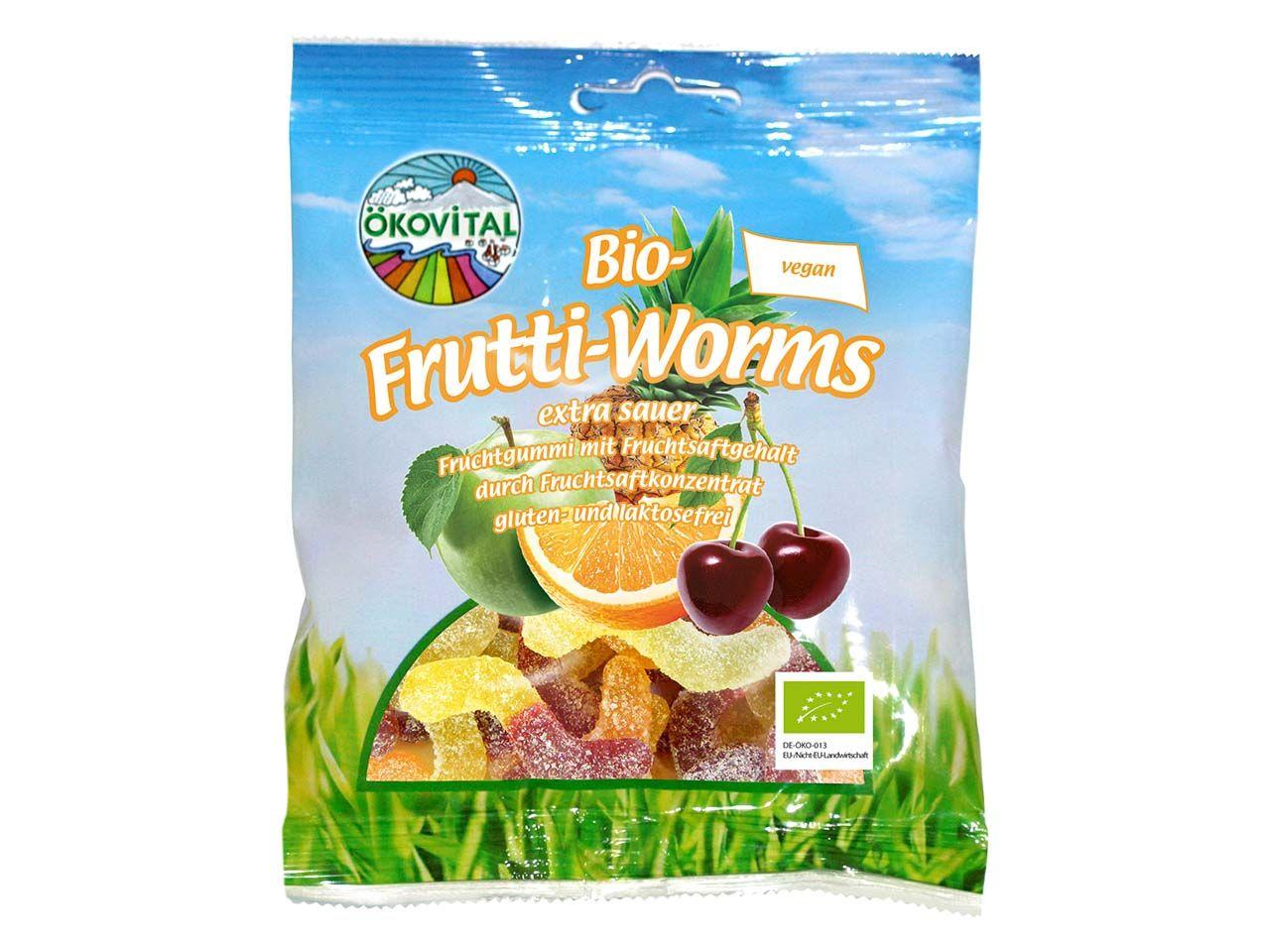 """Bio-Fruchtgummi """"Frutti Worms"""" 100 g A20401200"""