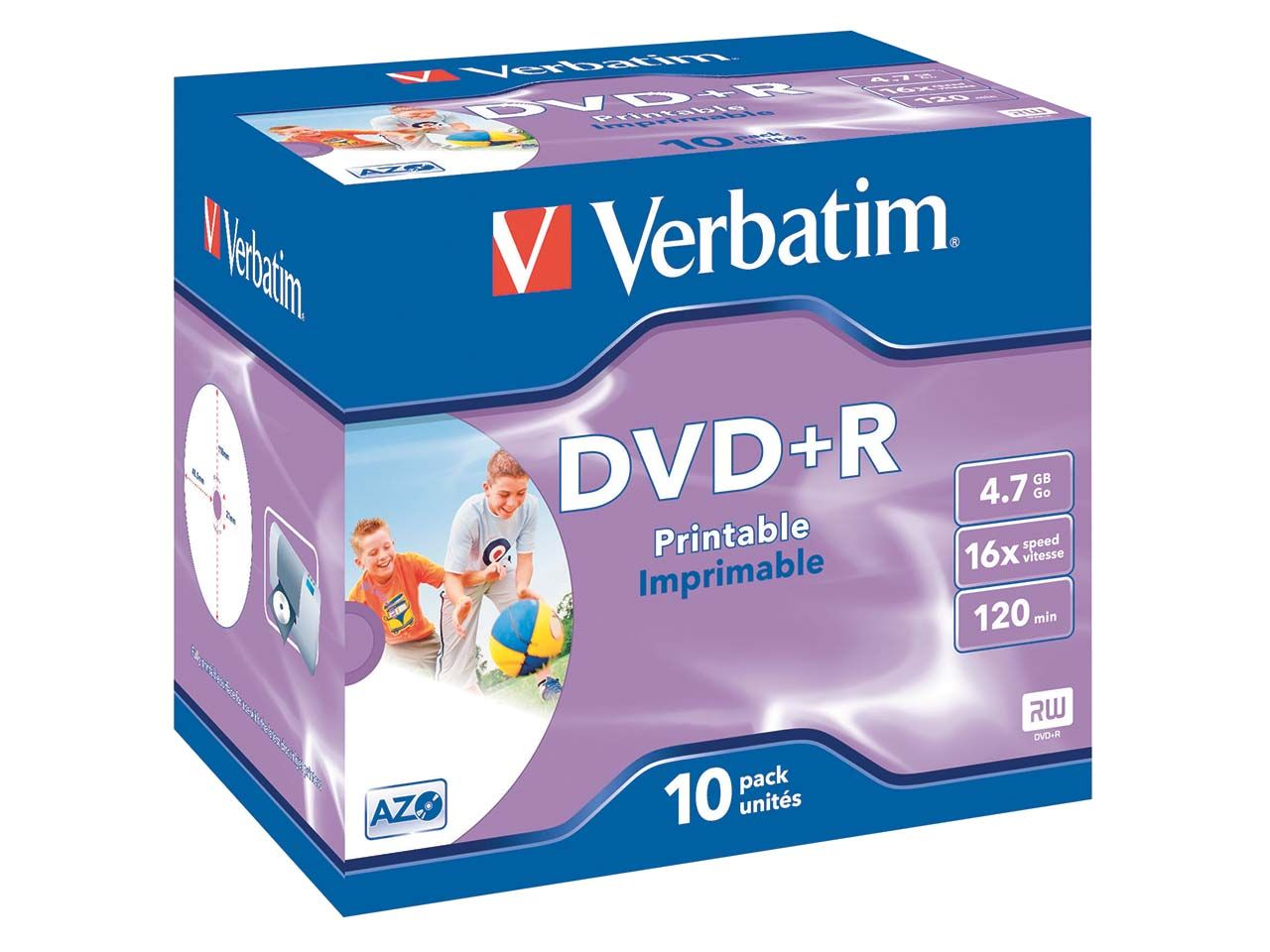 10 Verbatim DVD+R 16x JC Printable 43508#PK10