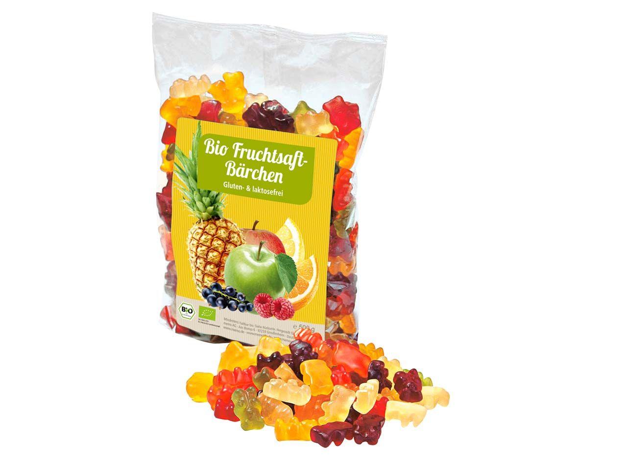 memo Bio-Fruchtsaft-Gummibärchen 500g Tüte C09004000