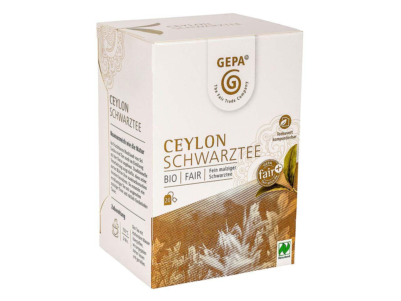 GEPA Schwarzer Bio-Tee Ceylon 20 x 2 g 8880952