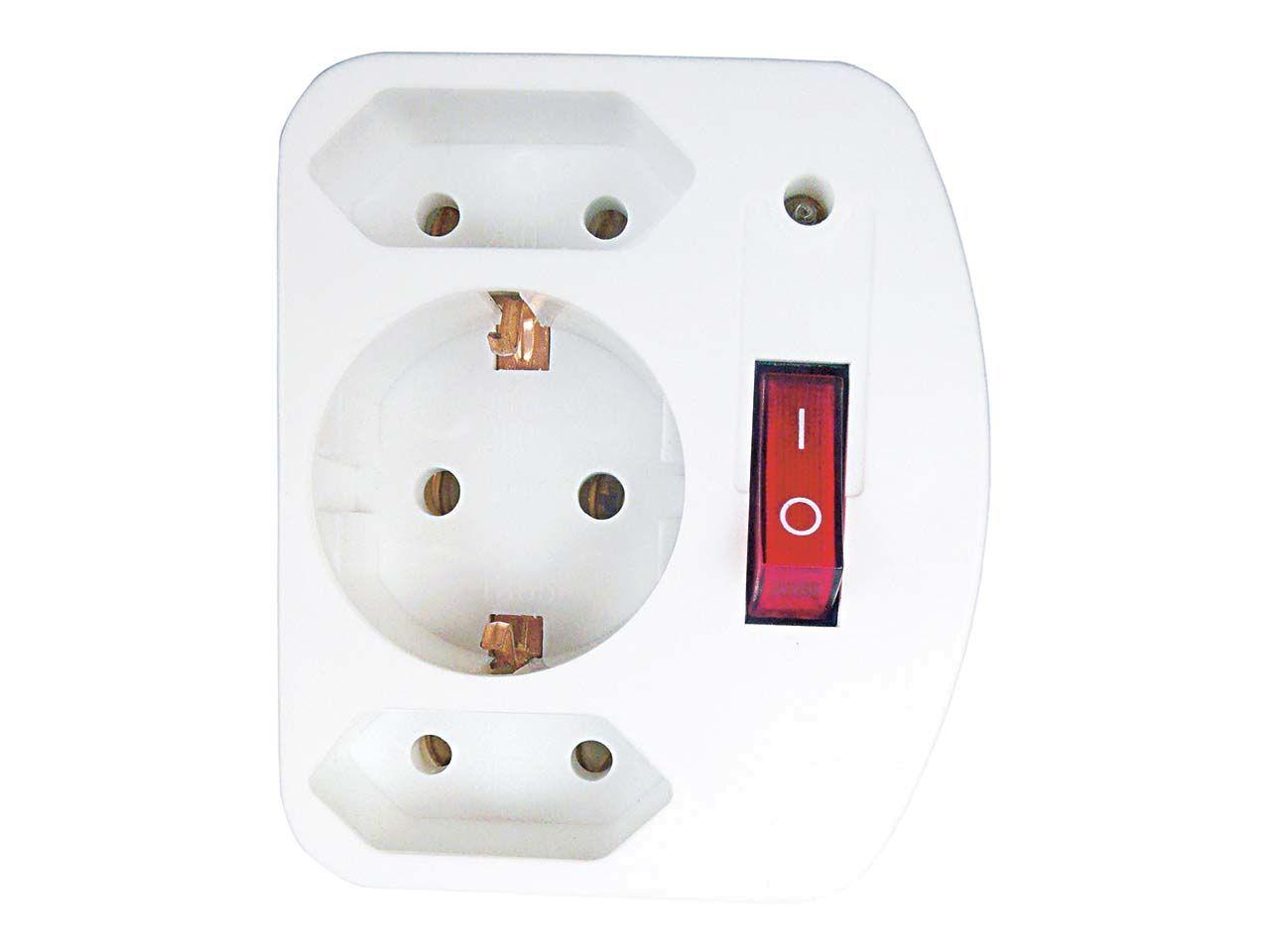 REV Zwischenstecker für Steckdosen 2+1 mit Überspannungsschutz 00135501