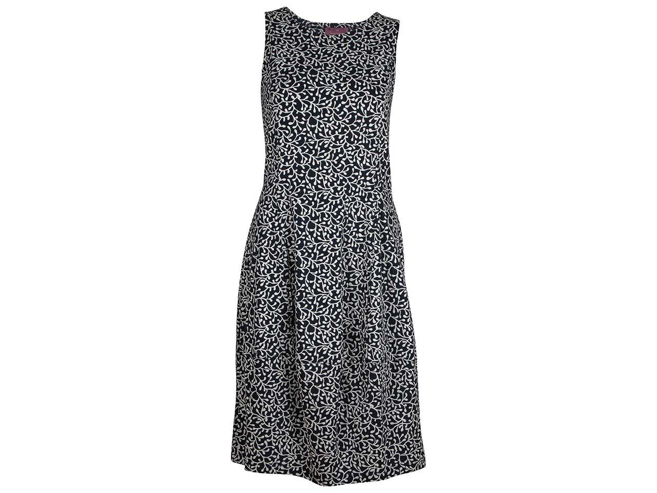 Heidekönigin Bio-Damen-Kleid, ärmellos, Serviettendruck, marine, Gr. S 32.224 40 S