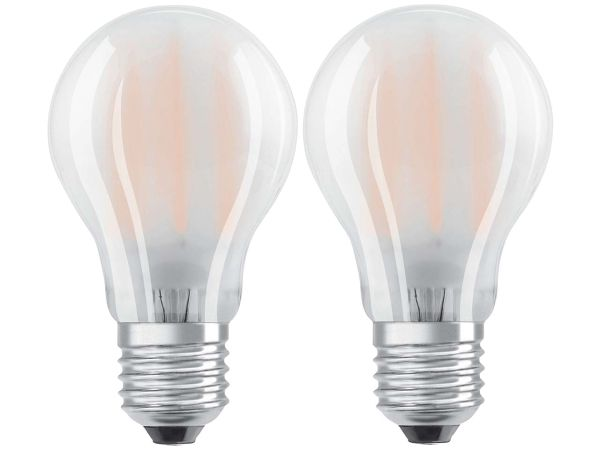 "2er-Pack OSRAM LED-Lampe ""Superstar Filament"" CLA GL FR, 11 W, E27, 840"