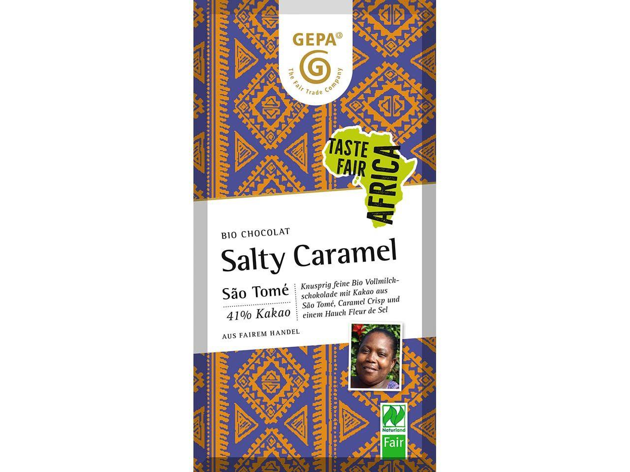 GEPA Bio-Vollmilchschokolade Caramel Salz 80 g 8961853
