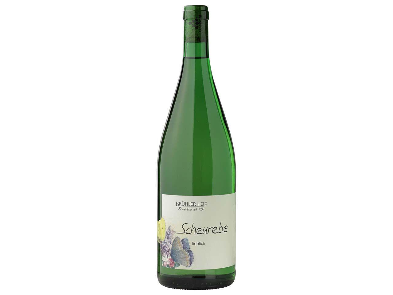 Brühler Hof Bio-Weißwein Scheurebe, Qualitätswein, 1 l 9-19
