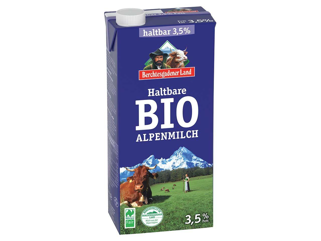 Berchtesgadener Land Bio-H-Milch 3,5 %, 1 l 1355
