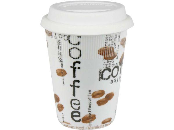 "Könitz Traveller's Mug to go ""Coffee Collage"""