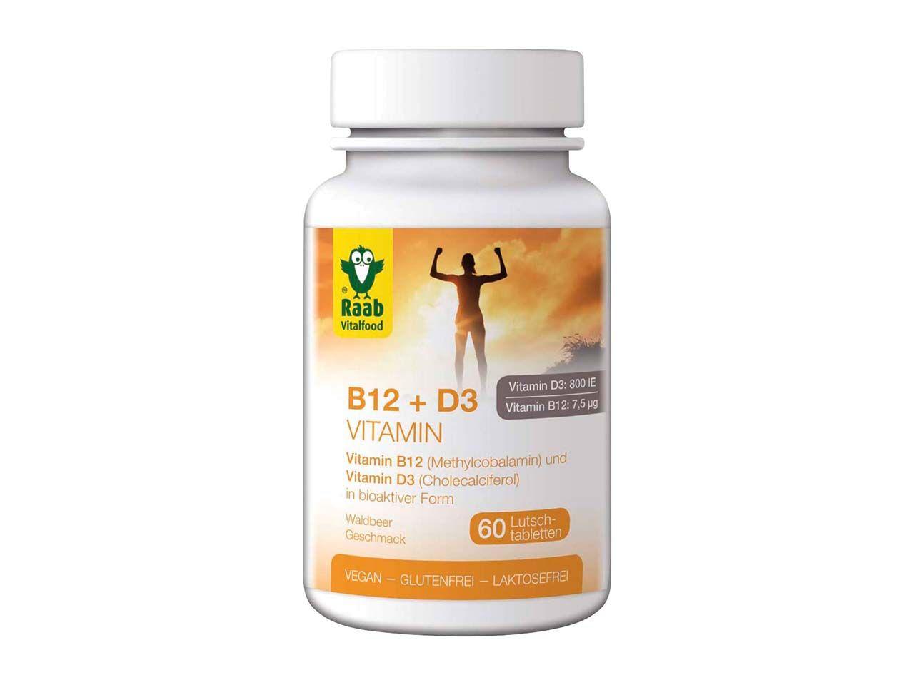 Raab Vitalfood Vitamin B12 + D3 Tabletten, 60 Stk. 1313