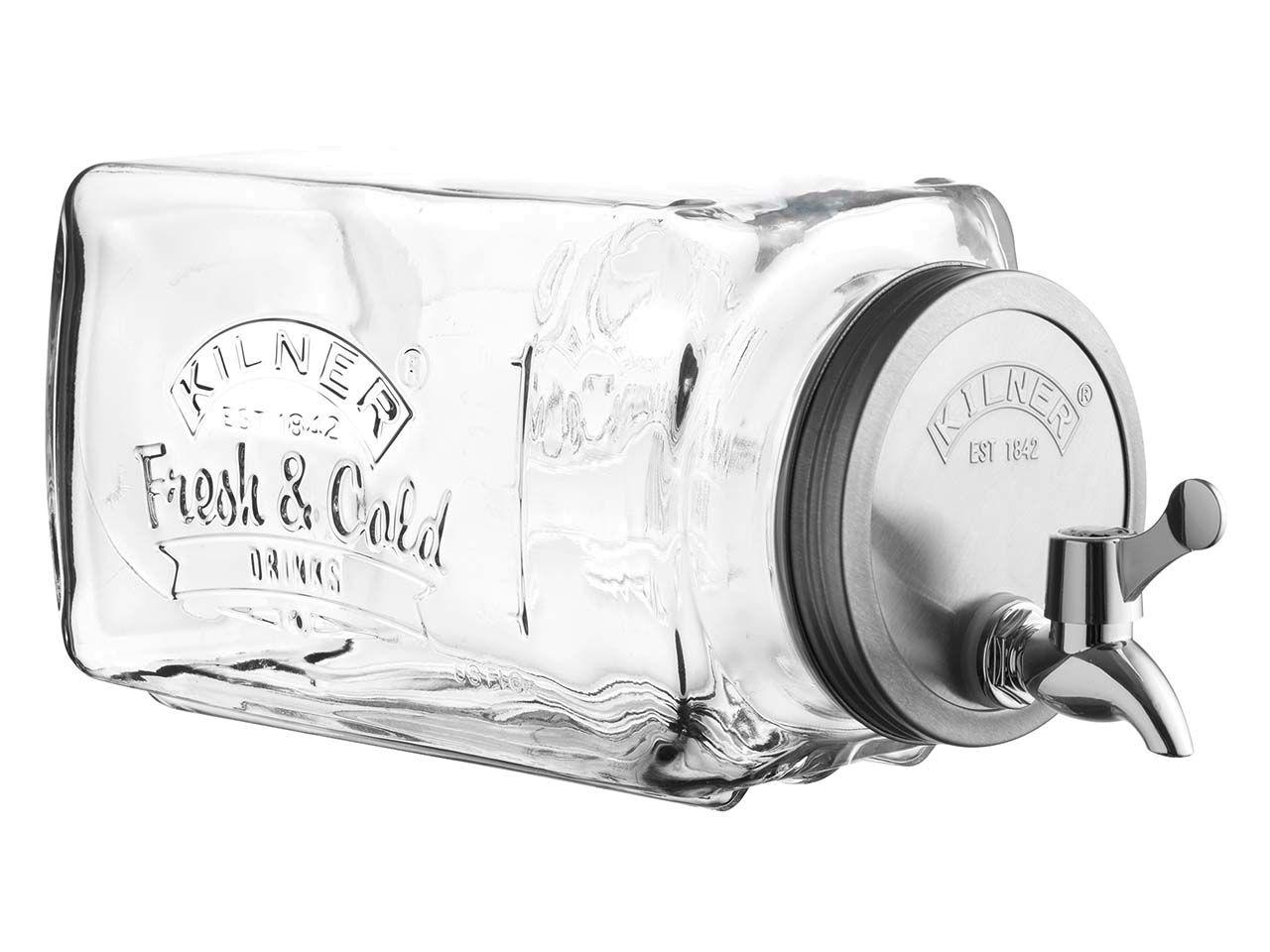KILNER Getränkespender aus Glas mit Zapfhahn, 3 L 0025.001