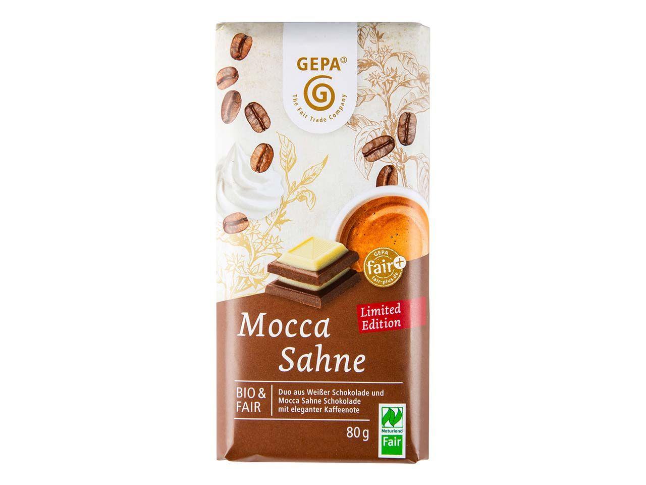 """GEPA Bio-Schokolade """"Mocca Sahne"""", 80 g 8961873 Bio Mocca Sahne"""