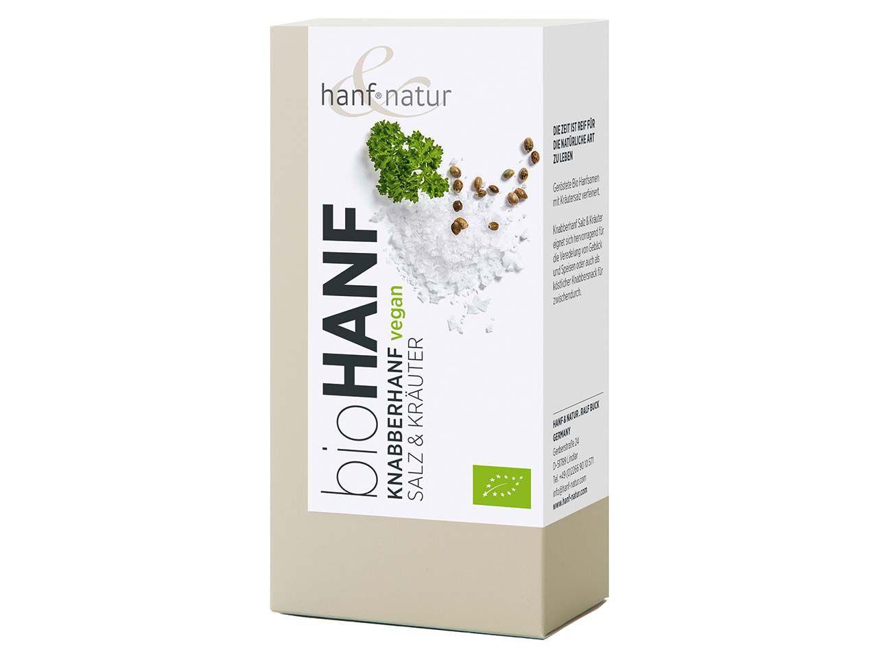 "Hanf Natur Bio-Knabberhanf ""Salz&Kräuter"", 100 g 0-1006"