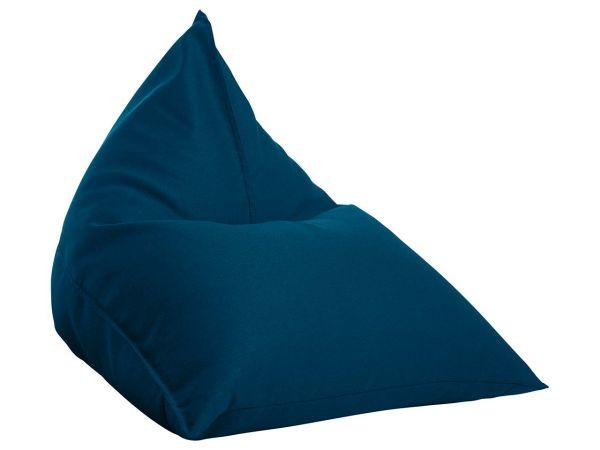 """Sitzsack """"Triangle"""" blau, für Innenbereich"""