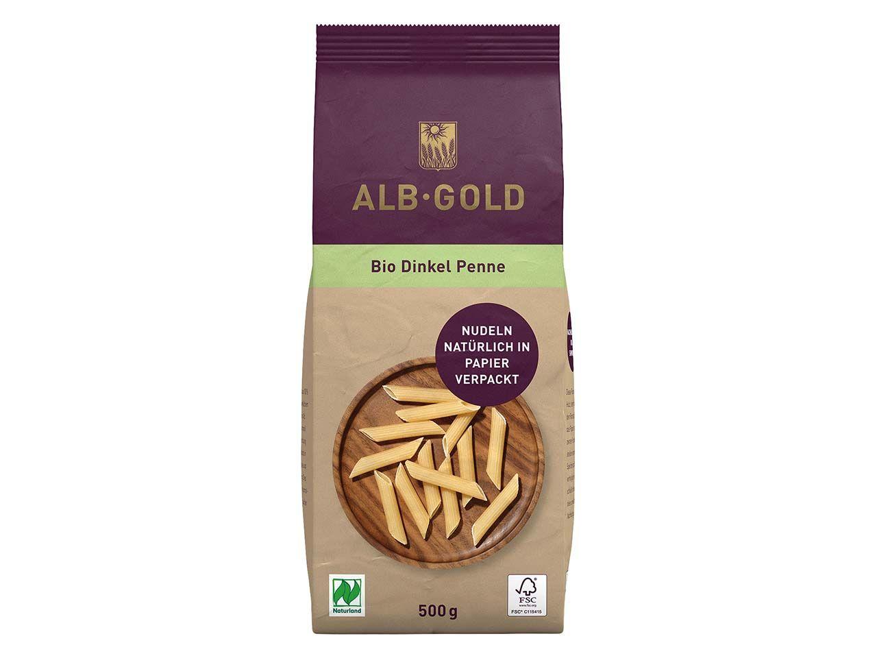 ALB-GOLD Bio-Dinkel Penne, 500 g 104034314