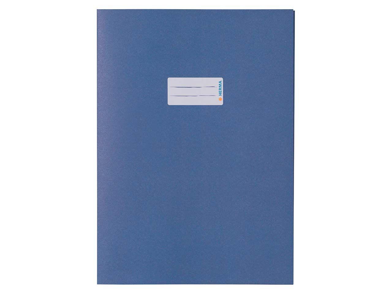 HERMA Heftumschlag RC-Papier A4 blau 5533
