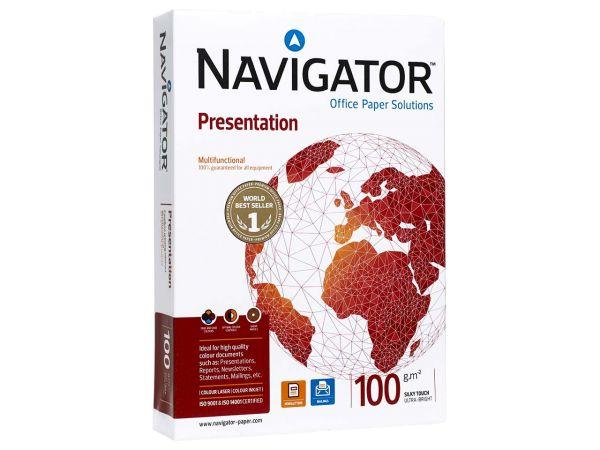 """500 Blatt Navigator Multifunktionales Kopierpapier """"Presentation"""" DIN A4, 100g/m²"""