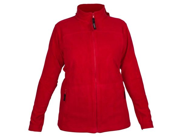"memo Damen Fleece-Jacke ""Nature"" rot Gr.XL aus Bio-Baumwolle mit Fairtrade Siegel"